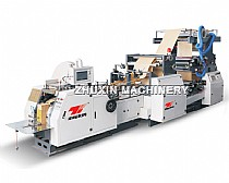 Automatic High Speed Food Paper Bag Machine online with 2 Color Flexo Printing Machine